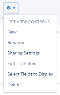 List View Controls