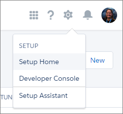Setup Menu Dropdown